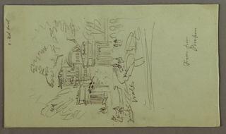 Drawing, Study of a Fresco from Pompei, possibly 1868–69