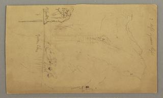 Verso: Mountain Peaks, Plan (?)