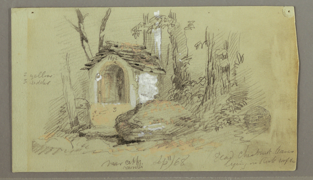 Drawing, Shrine in the Woods