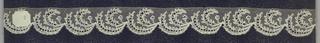 Edge of bobbin lace, leaf scallops; late 18th century Buckinghamshire.