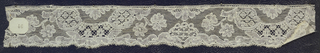 Bobbin lace edge; late 18th century Maline