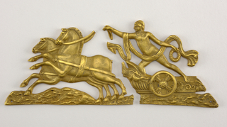 Roman charioteer heading left.