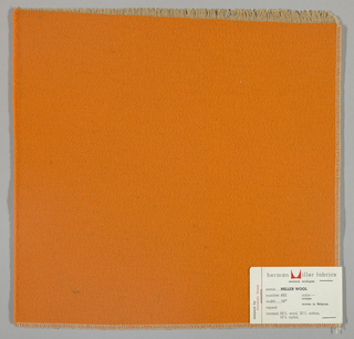 Weft-faced twill weave in light orange. Number 462.