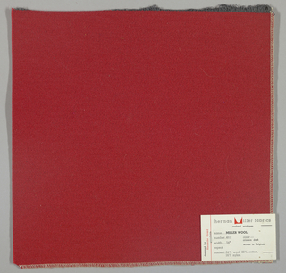 Weft-faced twill weave in red. Number 461.