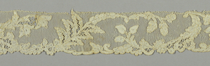 Edge lace with flowers and leaves.