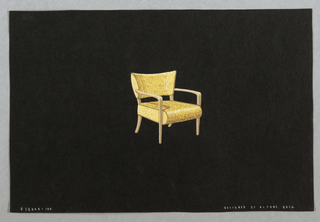 Drawing, 104. Yellow armchair