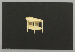 Drawing, 505. Console table with s