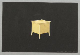 Drawing, 507. Bedside table with d