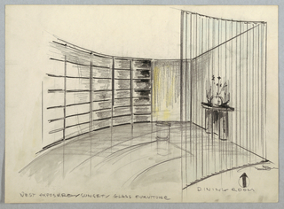 "Drawing, Dining Room; ""West Exposu"
