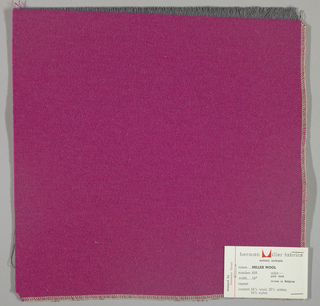 Weft-faced twill weave in magenta. Number 459.