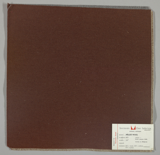 Weft-faced twill weave in dark brown. Number 463.