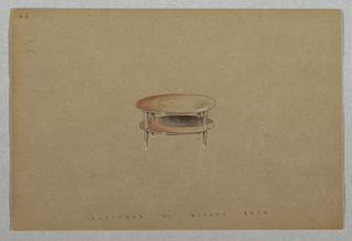 Drawing, 6. Round table with botto