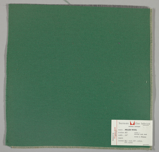 Weft-faced twill weave in dark green. Number 452.