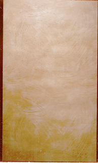 Tan faux finish, with the appearance of random wide brush strokes.