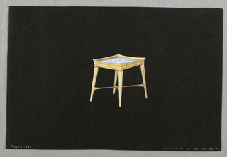 Drawing, 503. Square side table