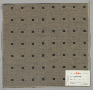 Doublecloth with a beige ground and black squares. Number 363.