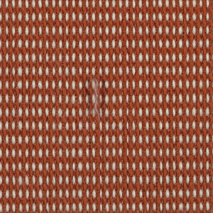 "Plain weave in dark orange and white with every third weft doubled. Warp contains supplementary binding warps. White warp yarns create ""dot"" effect. Number 354."
