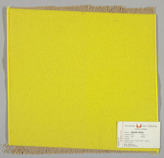 Weft-faced twill weave in yellow. Number 467.