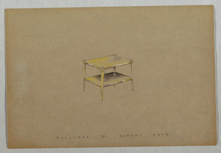 Drawing, Side table with lower she