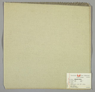 Weft-faced twill weave in white. Number 468.