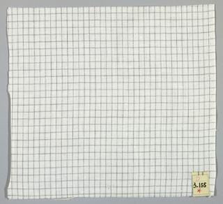 Plain weave in a grey and white windowpane plaid.