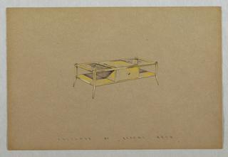 Drawing, Rectangular curio table w