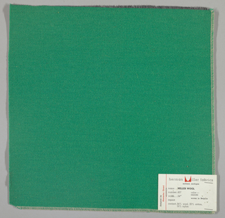 Weft-faced twill weave in green. Number 457.