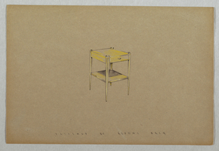 Drawing, Side table with top drawe