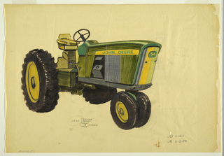 Drawing, Design for a Tractor