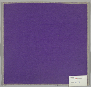 Weft-faced twill weave in blue-violet.