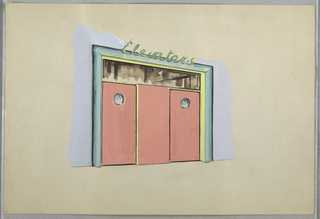 Drawing, One design for elevator e