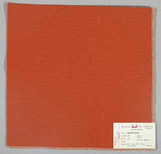Weft-faced twill weave in orange. Number 460.