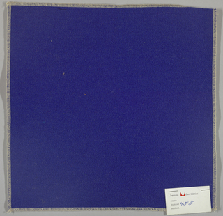 Weft-faced twill weave in blue. Number 455.