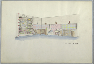 Drawing, Baby/child store diplay
