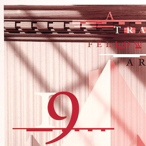 Poster depicts a piece of paper in an accordion shape with text written in black and red. Upper center: A / TRAVELING / FELLOWSHIP IN / ARCHITECTURE; 19 / LYCEUM / 94; on an architectural background, an entablature. There is text about the competition and the prizes. In the lower margin in gray: WELCOME.