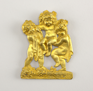 Three bacchanal putti