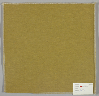 Weft-faced twill weave in dark yellow. Number 456.