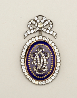 Pendant with monogram Pendant, 1780–1800