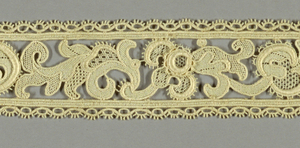 Narrow border made in imitation of Italian Point de Venise.