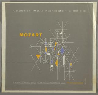 Record Cover, Mozart: Piano concerto in C Major