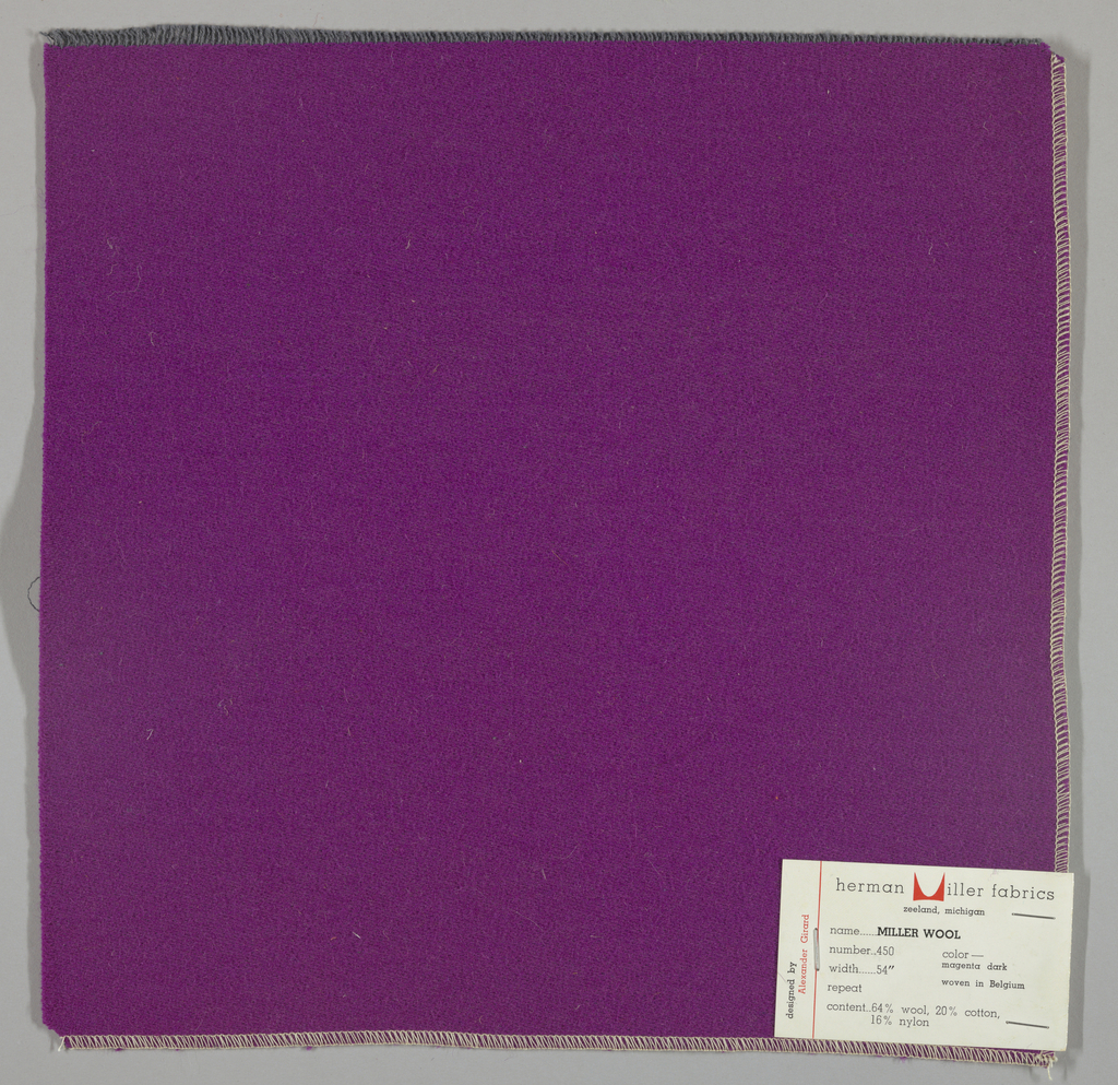 Weft-faced twill weave in violet. Number 450.