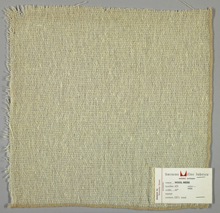 Plain weave in off-white. Yarns are loosely twisted. Number 403.