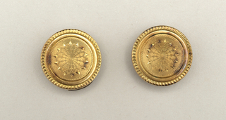 Cuff Button (USA), 19th century