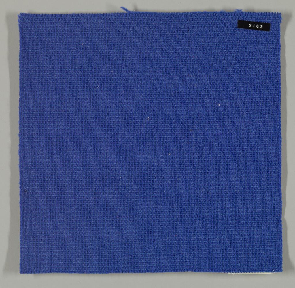 Coarse plain weave in bright blue.