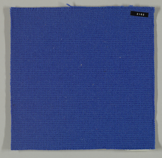 Coarse plain weave in bright blue.