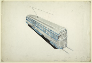 Drawing, Electric Streetcar Redesign