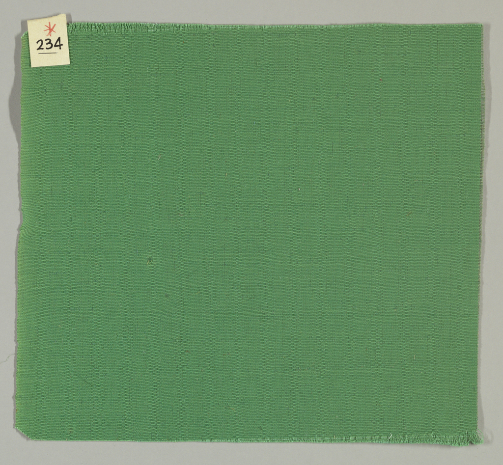 Warp-faced plain weave in green. Number 234.