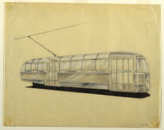Drawing, Design for Electric Streetcar