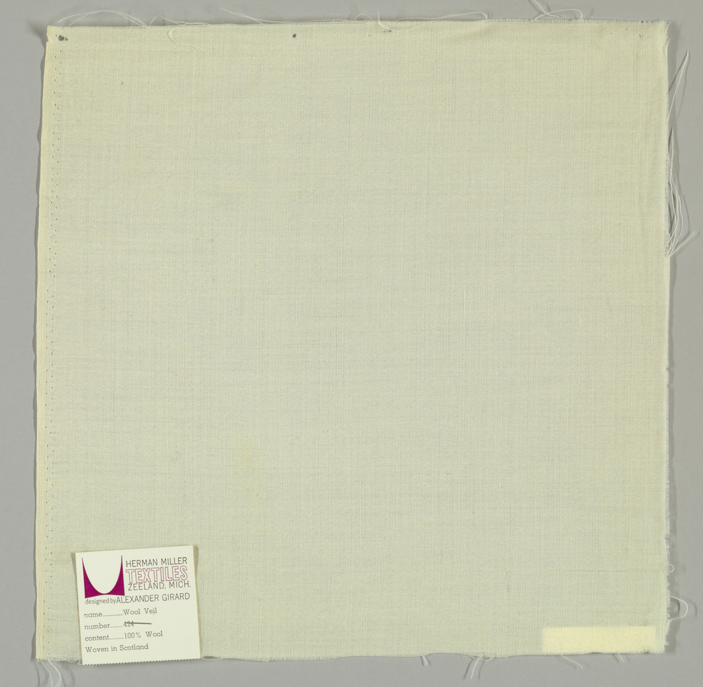 White plain weave. Number 424.