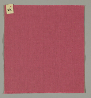 Warp-faced plain weave in pink. Number 230.